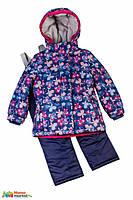 Комплект зимний для для девочки Baby LIne 2016 Бабочки, цвет темно-синий