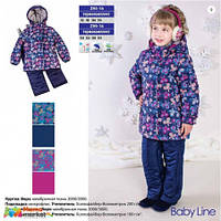 Комплект зимний для для девочки Baby LIne 2016 Бабочки, цвет фиолетовый