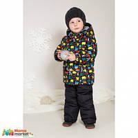 Комплект зимний для для мальчика Baby LIne 2016 Игрушки, цвет Черный