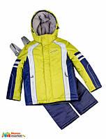 Комплект зимний для для мальчика Baby LIne 2016 спорт, цвет Салатовый