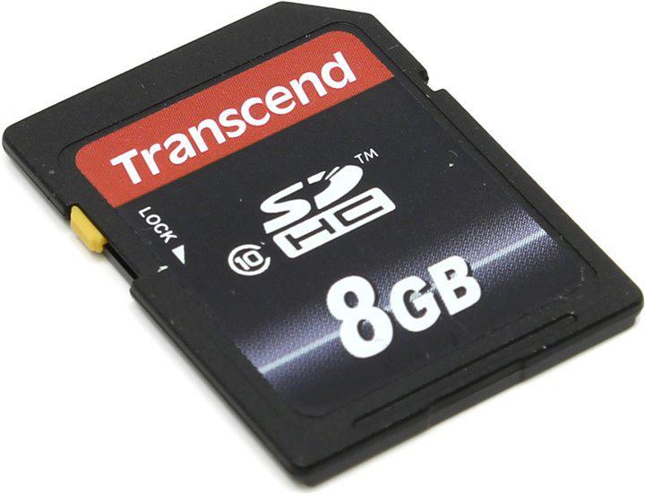 Карта пам'яті SDHC 8GB Transcend Class 10 (TS8GSDHC10)