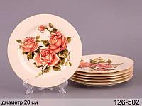 """Набор тарелок """"корейская роза"""", 6 пр., 19х19х2,5 см"""