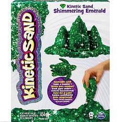 Песок для детского творчества - KINETIC SAND METALLIC  (зеленый, 454 г)  71408Em
