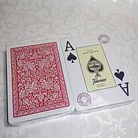 Карты игральные для покера Fournier 2818, 100% пластик (красные)