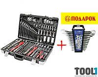 """Набор инструментов, 1/4"""" & 3/8"""" & 1/2"""", 176 ед. + набор ключей комбинированных 12ед (6-22мм). Tool1 AA-0102"""