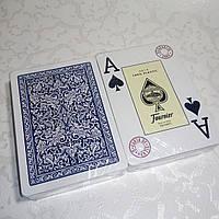 Карты игральные для покера Fournier 2818, 100% пластик (синие)