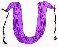 Гамак для йоги(аэрогамак) со стропами и креплением Antigravity Yoga DH6026-V фиолетовый