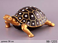 "Фигурка декоративная ""черепаха"" чер. 35,5 см, в кор. 4 шт."