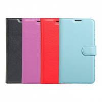 Кожаный чехол (книжка) Wallet с визитницей для Meizu M5