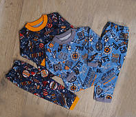 Теплая детская пижама (разные рисунки и цвета)