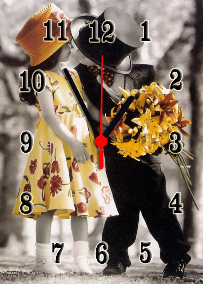 Часы настенные стеклянные Т-Ок 002 SG-25035018