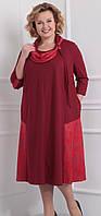 Платье большого размера Novella Sharm-2916 белорусский трикотаж