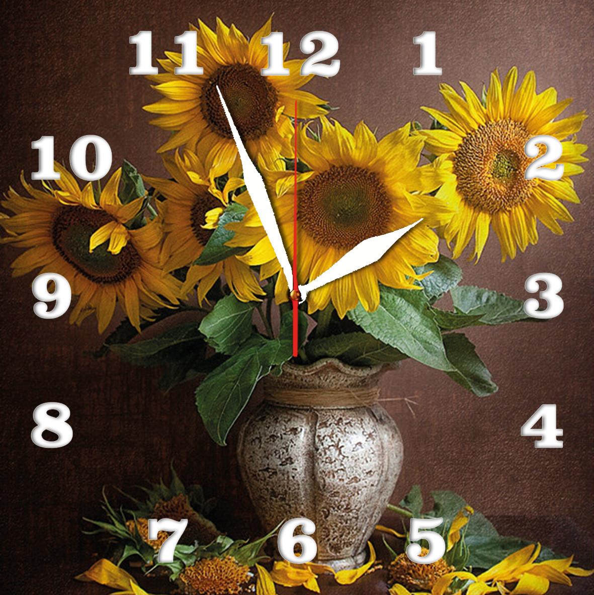 Часы настенные стеклянные Т-Ок 003 S-3014