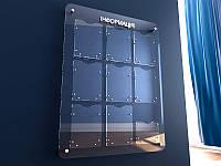Информационный стенд из оргстекла с карманами 800х1090 мм (9 карманов) (Способ нанесения : Объемные  буквы, фото 1