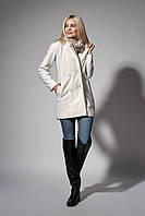 Пальто женское молодежное. Код модели П-04-51-17. Цвет молочный.