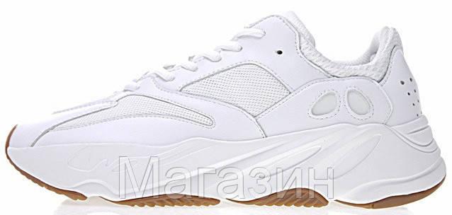"""Мужские кроссовки Adidas Yeezy Boost 700 """"Wave Runner"""" White (в стиле Адидас Изи Буст 700) белые"""