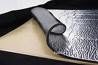 Тепло-шумоизоляция из вспененного каучука SoundProOFF Flex Sheet с фольгой 6мм лист 75x50см