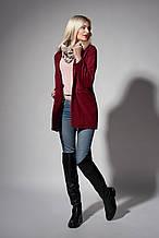 Пальто женское молодежное. Код модели П-05-34-17. Цвет марсала.
