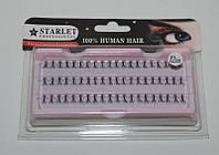 Ресницы пучками для наращивания (черные; длина 12 mm; 60 пучков) Starlet Professional