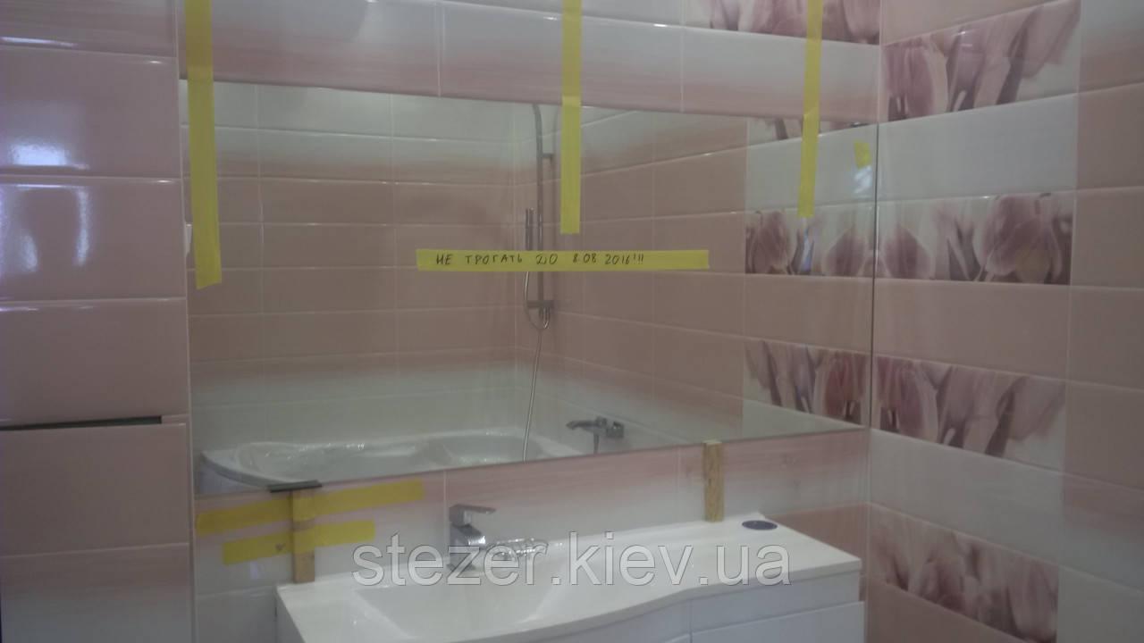Зеркало в ванную от стены до стены