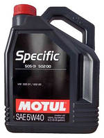 Моторное масло MOTUL Specific 505 01 502 00 505 00 SAE 5W40