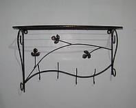 Вешалка кованая настенная овал 50 см, антик медь