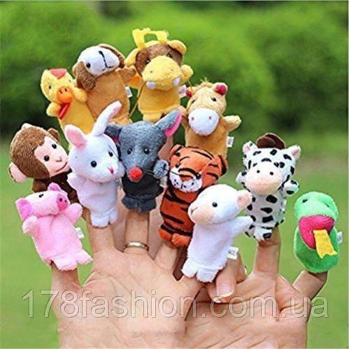 Пальчиковый кукольный театр для малышей набор из 12 животных