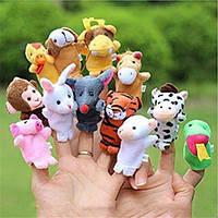 Пальчиковый кукольный театр для малышей набор из 12 животных, фото 1
