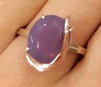 Кольцо серебряное с золотыми накладками Божена с турмалином