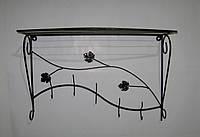 Вешалка кованая настенная овал 60 см, антик медь, фото 1