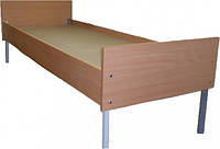 Кровать одноместная из ДСП на металическом каркасе