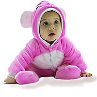 Комбинезон Мышка для девочки человечек теплый в роддом для прогулок