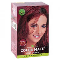 Натуральная краска для волос на основе хны Color Mate (тон 9.3, бургундия) — без аммиака!