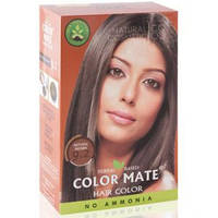 Натуральная краска для волос на основе хны Color Mate (тон 9.2, натуральный коричневый) — без аммиака!