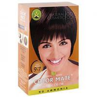 Натуральная краска для волос на основе хны Color Mate (тон 9.7, светло-коричневый) — без аммиака!