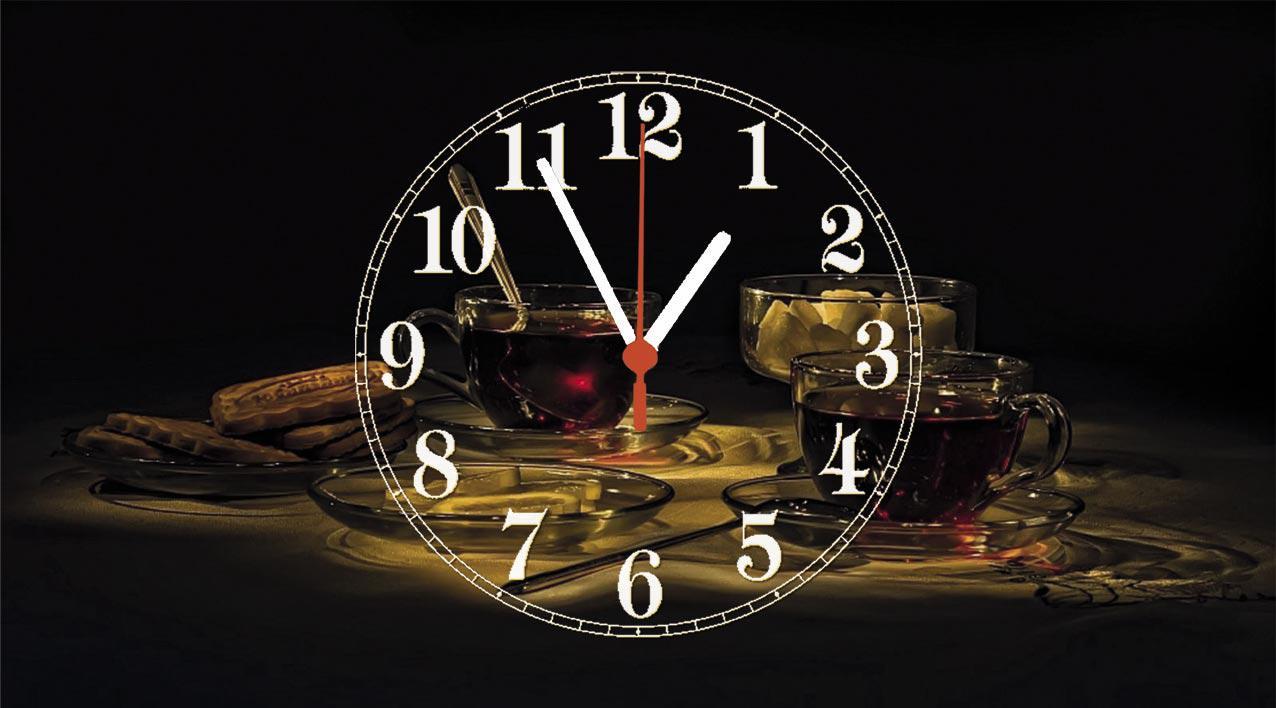 Часы настенные стеклянные Т-Ок 010 SG-2504502
