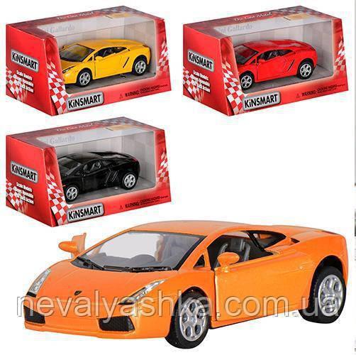 Kinsmart металлическая инерционная машинка Lamborghini Gallardo Кинсмарт KT5098W 002018