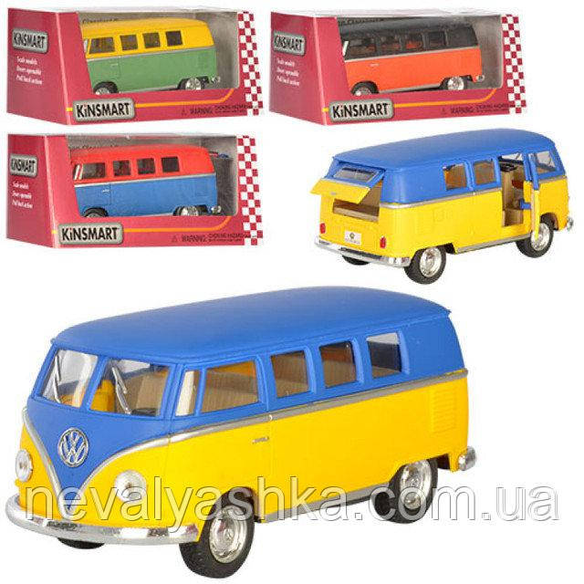 Kinsmart металлическая инерционная Кинсмарт Автобус Volkswagen Classical Bus KT5060WM 002369