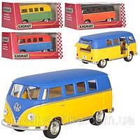 Kinsmart металлическая инерционная Кинсмарт Автобус Volkswagen Classical Bus KT5060WM 002369, фото 1