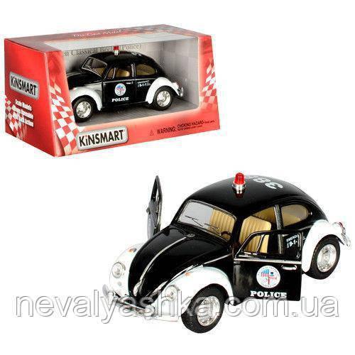Kinsmart металлическая инерционная Кинсмарт Volkswagen Beetle Полиция KT5057WP 002965, фото 1