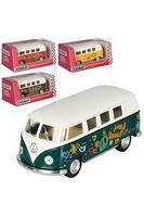 Kinsmart металлическая инерционная Кинсмарт Автобус Volkswagen Hippie Bus KT5060WF 002977, фото 1