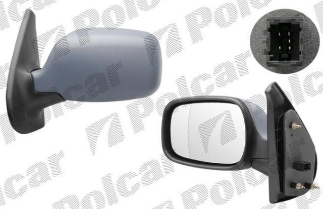 Зеркало внешнее, правое 6061525M Рено Кенго