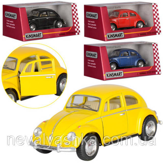Kinsmart металлическая инерционная Кинсмарт Volkswagen Classical Beetle 1967 KT5057W 006707