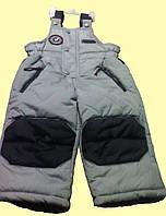 Комбинезон детский серый теплый, на мальчика, 12 м