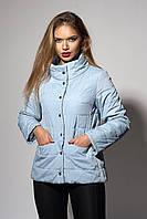 Женская демисезонная куртка. Код модели К-99-37-17. Цвет светло голубой.