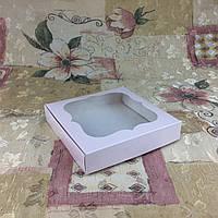 Коробка для пряников Пудра с окном  150*150*30, фото 1