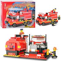 """Конструктор """"SLUBAN"""" """"Пожарные спасатели"""", 281 деталей.Конструктор для мальчиков.Игрушка конструктор."""