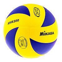 Волейбольный мяч для профессиональной игры Mikasa MVA200PU, фото 1