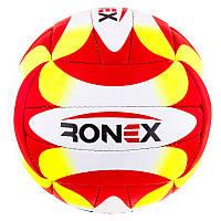 Мяч для новичков волейбольный Ronex Orignal Grippy  Red/Yel/Black, фото 1