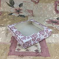Коробка для пряников Печать Сердца с окном  150*150*30, фото 1